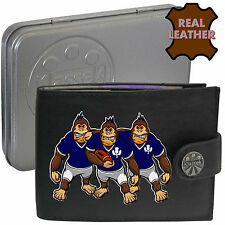 Klassek SCOTTISH Scotland Rugby Wallet Black Leather Gorilla Parody Mens Shirt