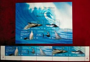 Oman 2020 new issue Whales & Dolphins  (Souvenir sheet + 5 stamp)