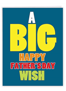 NobleWorks - Funny Card for Father's Day 8.5 x 11 Inch - Big Appreciation, Humor