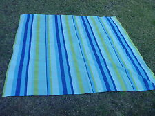 """Shades of Color Turquoise Navy Blue Lime Green Stripe Fabric Tablecloth 70x70"""""""
