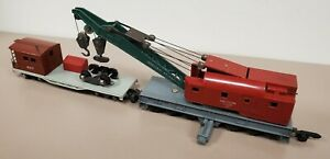 American Flyer Postwar 644 Industrial Brownhoist & 607 Work And Boom Car [RB4-6]
