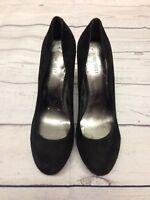 Ladies Nine West 9W UK Size 7 Black Suede High Heels With Stud Detailing