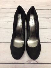 Ladies Nine West 9W UK Size 7 Black Suede High Heels With Stud Detailing