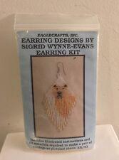 Vtg NOS American Indian Glass Beads Beaded Earrings Kit Sigrid Wynne-Evans Bear
