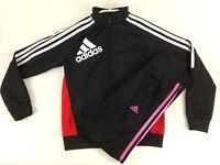 Adidas Fille Ensemble survetement veste et legging 10 ans noir rose  Envoi suivi