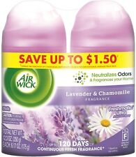 Air Wick Freshmatic Air Refill, Lavender - Chamomile, 6.17 oz per Can, 2 ea