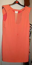 Zara Coral Gold Stud BNWT dress Size UK M EUR M Party, Clubbing, Festival, Work