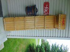 "vintage wooden snow toboggan slep   71"" nice    chalet decor  # 4527"