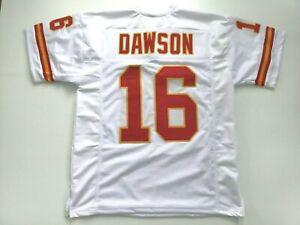UNSIGNED CUSTOM Sewn Stitched Len Dawson White Jersey - M, L, XL, 2XL