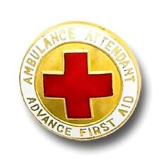 Ambulance Attendant Advance First Aid Lapel Pin 937 Professional Gold Plated