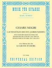 Lute Dances of the 16th Century, sheet music; Negri, Cesare. - 979000800539