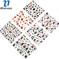 24 Sheets 3D Halloween Nail Art Tips Transfer Decal Stickers Manicure JH280
