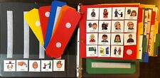 LOT 1 BOOK 200+ COMMUNICATION CARDS SPEECH THERAPY AUTISM APRAXIA ALZHEIMER