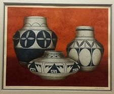 """Colleen Rowland """"Native American"""" Indian Pots Print Signed and Numbered 237/300"""