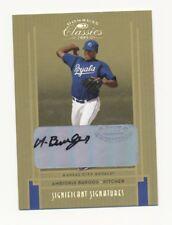 2005 Donruss Classics #221 Ambiorix Burgos Kansas City Royals Auto Baseball #/50