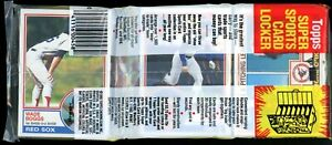 1983 Topps Baseball Grocery Rack Pack with HOFer WADE BOGGS Rookie on Front