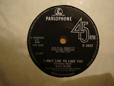 CILLA BLACK,  I ONLY LIVE TO LOVE YOU,  PARLOPHONE RECORDS 1967  EX/EX+