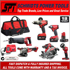 MILWAUKEE GENII M18 18V FUEL BRUSHLESS CORDLESS COMBO KIT 6 TOOL M18PP6C-502B