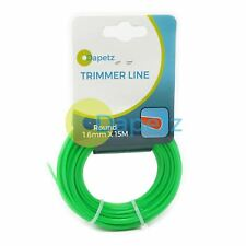 15m x 1.65mm Strimmer Line Nylon Cord Wire Round String Medium Electric Trimmer