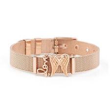 Women Stainless Steel Mesh Charms Bracelet LOVE Ladies Bracelets