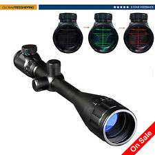 6-24x50 Rangefinder Red Green Dual Illuminated Optic Hunting Rifle Scope