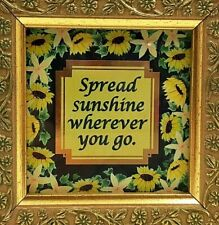 "Spread Sunshine Framed Art Print 4.25"" Spirituality Hope Faith Living Branches"