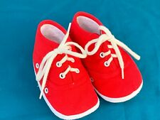 Gold Bug Size 3 Baby Infant Red Crib Shoes Sneakers