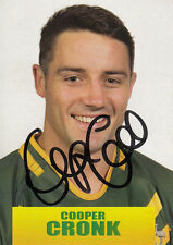 2013 RUGBY LEAGUE WORLD CUP SERIES SIGNATURE CARD - COOPER CRONK