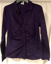 Worthington Purple Blouse Sz Medium Button Down Women's Junior