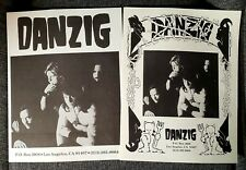 Lot of 2 DANZIG ORIGINAL VINTAGE Fan Club Flyers 1991 Misfits Samhain Mint RARE!