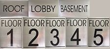 Floor number Sign Set ( BRUSH ALUMINIUM )