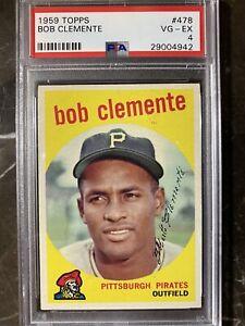 1959 Topps Roberto Clemente #478 PSA 4 VG-EX Great Centering!