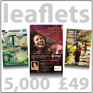 Colour Leaflets A5 Flyers 5000 on 150gms not 130gms - FREE DELIVERY