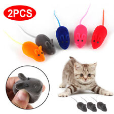 2pcs Mouse Squeak Sound Funny Rat Playing Toy For Cat Kitten Pet Play Toys New