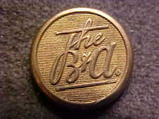 ANTIQUE THE B&A RAILROAD 5/8 BRASS UNIFORM BUTTON AMERICAN RAILWAY SUPPLY