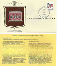 Historic Stamps of America BATTLE OF YORKTOWN SESQUICENTENNIAL Commemorative