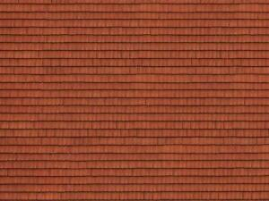 NOCH HO SCALE ROOF TILE SHEET RED | 56670