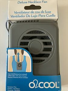 O2COOL Deluxe Necklace Portable Personal Fan for Outdoors Battery Operated
