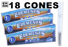 Elements Organic Rice-Paper (18 Cones) Pre-Rolled Ultra-Thin Cones - 1 1/4 Size