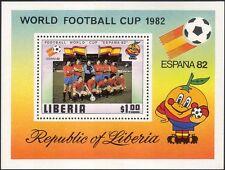 Liberia 1981 Calcio/WC/World Cup/Spagna' 82/Sport/Giochi/SOCCER 1 V M/S (n12969)