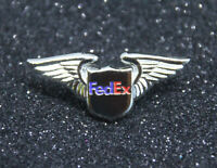 WING Pin FED EX WINGS silver for Pilot Airline Crew Courier Delivery Guy