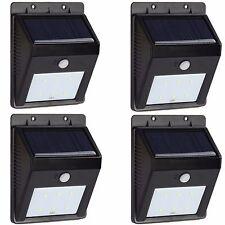 4PCS Outdoor Solar Power Motion Sensor Security 6LED Deck Step Stair Wall Light