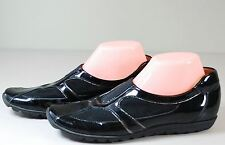 Sesto Meucci Pure Italian Shoes Women's Stretch Oxfords Black Patent Leather 8.5