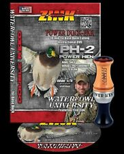 Zink Calls Ph-2 Power Hen Custom Hunter Double Reed Duck Call & Dvd Combo New !