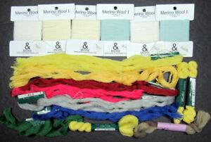 17xNeedlepoint/Embroidery THREAD FLEUR PARIS BellaLusso+& MORE Merino wools-EC13