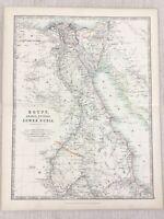 1896 Antik Map Of Ägypten Persien Arabien Untere Nubia Afrika 19th Jahrhundert