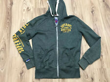 Superdry Mens Green Thick  Double Zip Hoodie Jacket Size Small Superdry Athletic