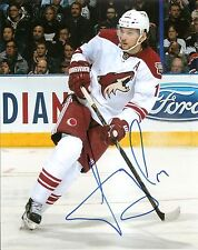 Martin Hanzal Coyotes Signed Auto 8x10 Photo Coa