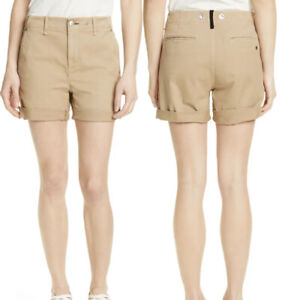 Rag & Bone Buckley Chino Shorts Womens Size 26 Khaki Brown