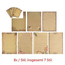 56x Vintage Briefpapier Kraftpapier ,,Schreiben Sie auf, was Sie sagen möchten''